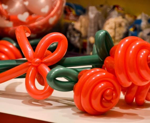 Mazzo di rose in palloncini
