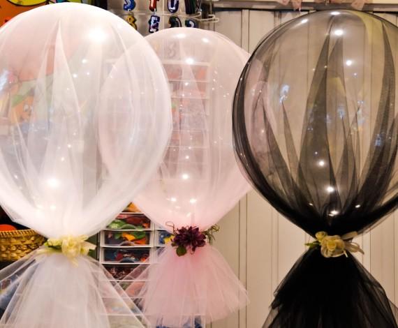 palloncini con tulle
