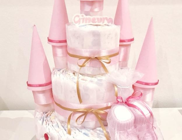 torta castello pannolini